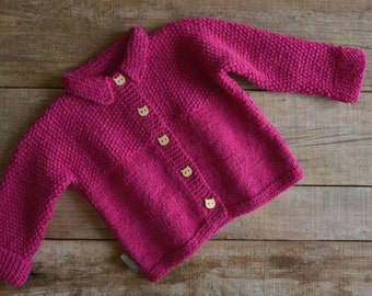 hand knitted childrens cardigan