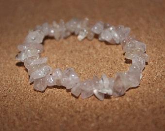 Clear rock crystal bracelet