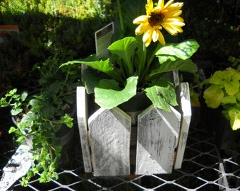 Picket Fence Planter-Garden Planter-Picnic Caddy-Garden Box-Picket Fence Box