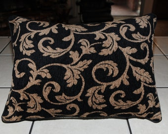 New Black And Brown Custom Decorator Pillow Upholstery Fabric SC3296