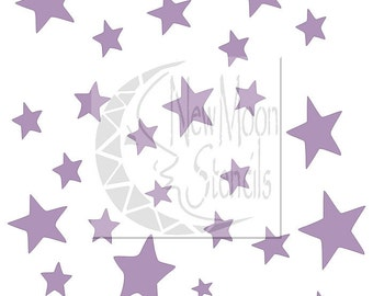 Scattered Stars 6x6 FREE U.S. SHIPPING