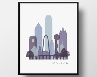 Dallas Skyline Printable Download