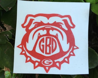 Georgia Bulldog Decal | YETI Decal|Personalized Decal | Georgia Monogram  | Georgia Bulldog  Sticker | YETI Decal | Car Decal|