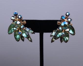 Vintage Beau Jewels Earrings, Vintage Rhinestone Earrings
