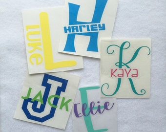 Monogram Decal, Customized Decal, Car Decal, Yeti Decal, Laptop Decal, Tumbler Decal, personalized decal, glitter monogram