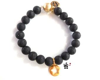 Pearl bracelet ~ golden star ~
