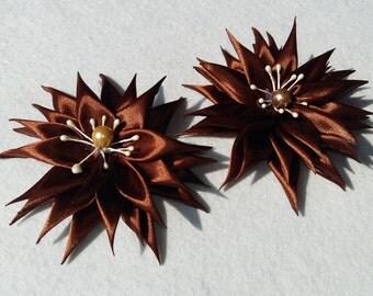 Holdbacks with magnet handmade kanzashi