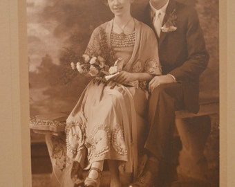 Vintage Photo Happy Couple Beautiful
