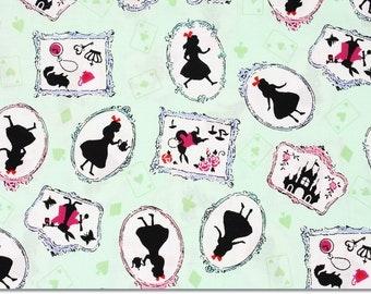 Alice in Wonderland Fabric made in Japan / Half Yard 18inch x 42inch