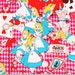 """Alice in Wonderland Fabric made in Japan / FQ 45cm by 53cm or 18"""" by 21"""""""