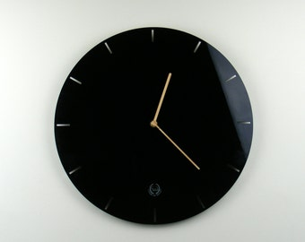 Laser cut acrylic wall mounted clock mid century modernist contemporary clock