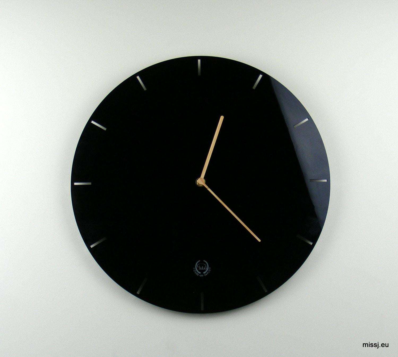 Laser cut acrylic wall mounted clock mid century modernist