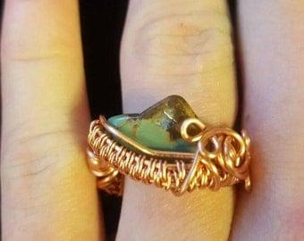 Japanese turquoise ring