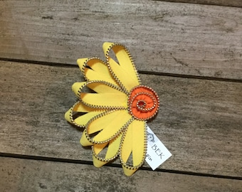 Sunflower Zipper Pin