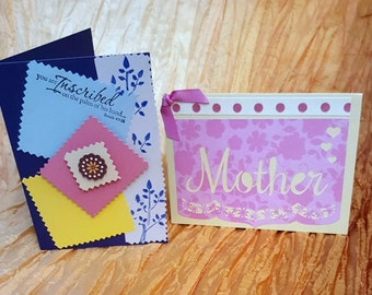 Mother's Day Cards, Card Set, FREE SHIPPING, Greeting Cards, Cards for Moms, Cards, Mother's Day Card Set, Handcrafted Card
