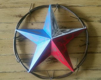 Metal Barbed Wire Star