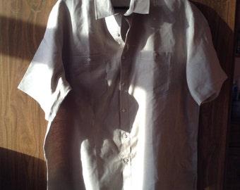 Linen Shirt With Short Sleeve