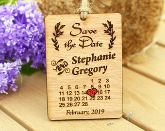 Calendar, save the date, save the date magnet, wedding save the date, wood wedding save the date, rustic save the date, wood save the date