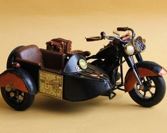 Dollhouse Steampunk motorbike with sidecar