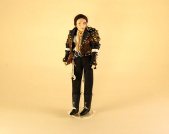 Dollhouse, miniature doll, gent, Steampunk Explorer 1, scale 1 : 12, H 150 mm., KO/512.