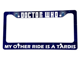 "Doctor Who TARDIS 6"" x 12"" License Plate Frame"