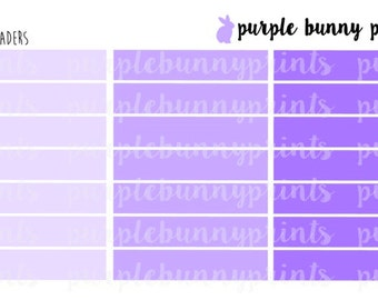 Headers // Blank // Sized for the Vertical ECLP // Planner Stickers!