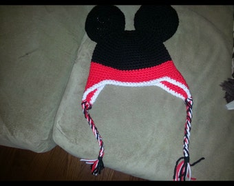 Mickey hat with earflaps