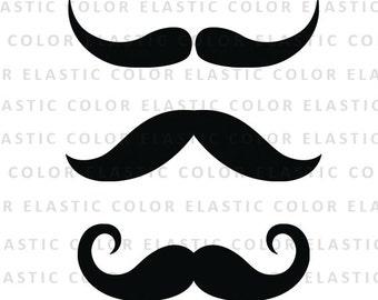 Mustache svg file - mustache clipart - mustache vector clip art svg, dxf, eps, png