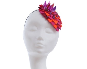 Headpiece for Daring Dragon Queens in Blazing Red