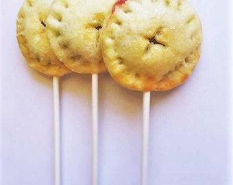 Pie Pops (12), Pie on a Stick, Wedding Favors, Rustic Weddings, Baby Shower, Bridal Shower,, Pie Lollipops, Barn Weddings