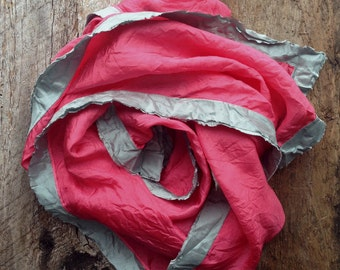 Silk Hand Dyed Scarf | Pink Scarf | Watermelon Silk Scarf | Modern Scarf | Yoga Scarf | Boho Scarf | Hippie Scarf | High Fashion Scarf