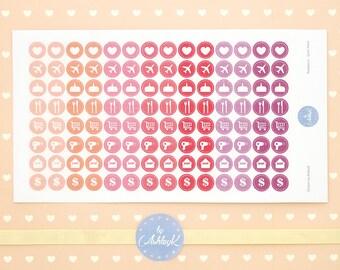 Daily Icon Stickers | Planner Icon Stickers | Journal Stickers | Diary Stickers - Erin Condren, Happy Planner, Kikki K, Filofax