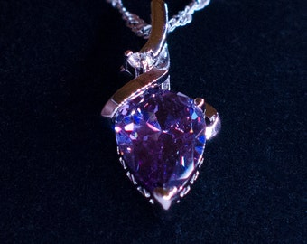 Purple Zircon Necklace