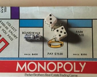 Vintage 1975 monopoly game by parker brothers