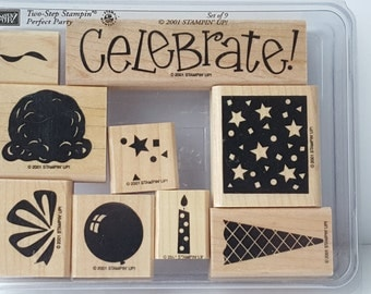 Party Perfect - Stampin' Up! Rubber Stamp Set
