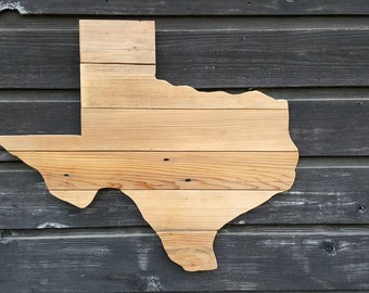 Reclaimed Wood State of Texas Wall Hanging