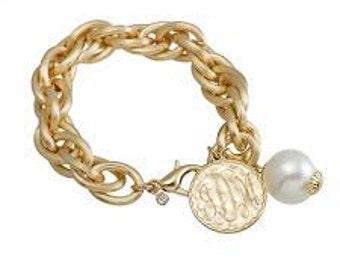 Link Monogrammed Bracelet