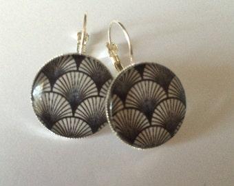 Japanese wave earrings