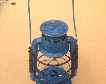 Blue oil lamp