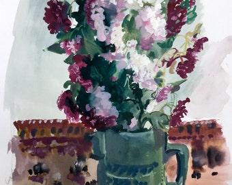 Original watercolour painting by Elsie Hewison
