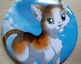 Solia Online Majig a ma Angry Kitty Mirror Badge Kogo Pin