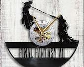 Final Fantasy 7 Cloud vs Sephiroth Vinyl LP Record Wall Clock Gift Idea featured image