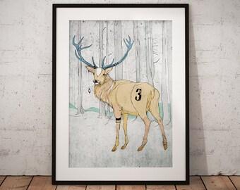 Tres Buck. Drawing, Print