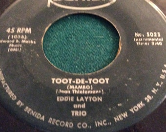 "Eddie Layton and Trio - "" Toot-De-Toot/ Songs From Desiree"" rare 45 on Benida label, VG"