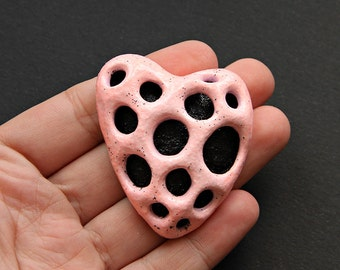 Polymer clay brooch (FREE SHIPPING)