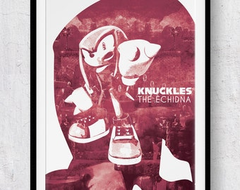 Sonic The Hedgehog: Knuckles the Echidna print/poster