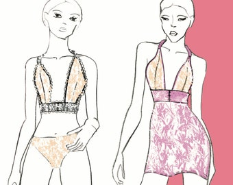 Printable Bra and Chemise Sewing Pattern