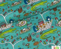 ORGANIC COTTON by Birch Fabrics - Picnic from Picnic Whimsy Collection - Sold by the Fat Quarter - UK Seller