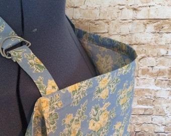 Blue/Yellow Floral Print Nursing Cover Up - Nursing Apron - Breastfeeding Cover