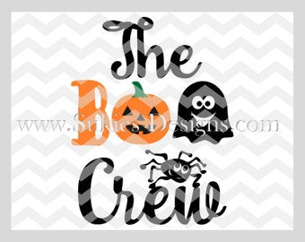 The Boo Crew Halloween SVG File For Cricut and Cameo DXF for Silhouette Studio Cutting File Halloween svg, Kids svg file, 1st Halloween svg